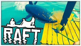 SHARK SURVIVAL SIMULATOR - MINECRAFT MEETS ARK - RAFT SURVIVAL