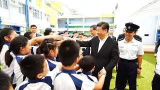 Chinese President Xi Jinping visited the newly-established Junior Police Call (JPC) Permanent Activity Center and Integrated Youth Training Camp at Pat ...