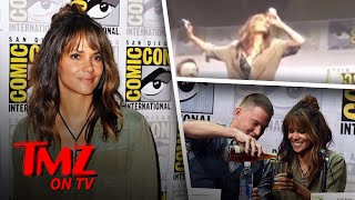 Halle Berry chugs about half a pint of whisky with her co-stars during a panel at comic con.SUBSCRIBE: http://po.st/TMZSubscribeAbout TMZ:TMZ has consistently been credited for breaking the biggest stories dominating the entertainment news landscape and changed the way the public gets their news. Regularly referenced by the media, TMZ is one of the most cited entertainment news sources in the world. Subscribe to TMZ on YouTube for breaking celebrity news/ gossip and insight from the newsroom staff (TMZ Chatter & TMZ News), the best clips from TMZ on TV, Raw & Uncut TMZ paparazzi video (from TMZ.com) and the latest video from TMZ Sports and TMZ Live! Keeping Up with Our YouTube Exclusive Content:TMZ Chatter: TMZ newsroom staff insight and commentary from stories/ photos/ videos on TMZ.com TMZ News: The latest news you need to know from TMZ.comRaq Rants: Raquel Harper talks to a celebrity guest with ties to the hip hop and R&B communities.Behind The Bar Podcast: TMZ's lawyers Jason Beckerman and Derek Kaufman loiter at the intersection of law and entertainment, where they look closely at the personalities, events and trends driving the world of celebrity — and how the law affects it all.We love Hollywood, we just have a funny way of showing it.Need More TMZ?TMZ Website: http://po.st/TMZWebsiteLIKE TMZ on Facebook! http://po.st/TMZLikeFOLLOW TMZ on Twitter! http://po.st/TMZFollowFOLLOW TMZ on Instagram! http://po.st/TMZInstaTMZ on TV & TMZ Sports on FS1 Tune In Info: http://po.st/TMZOnAirTMZ is on iOS! http://po.st/TMZiOSTMZ is on Android! http://po.st/TMZonAndroidGot a Tip?Contact TMZ: http://po.st/TMZTipCheck out TMZ Live, TMZ Sports and toofab!TMZ Live: http://po.st/TMZLiveWebsiteSubscribe! TMZ Live: http://po.st/TMZLiveSubscribeTMZ Sports: http://po.st/TMZSportsWebsiteSubscribe! TMZ Sports: http://po.st/TMZSportsSubscribeToofab: http://po.st/toofabWebsiteSubscribe! toofab: http://po.st/toofabSubscribeHalle Berry Chugs Whisky At Comic Con  TMZ TVhttps://www.youtube.com/c/TMZ