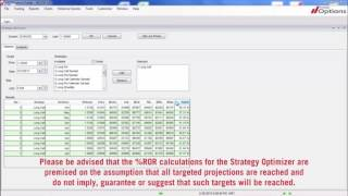 FXDD Options - Strategy Optimizer - Part 2