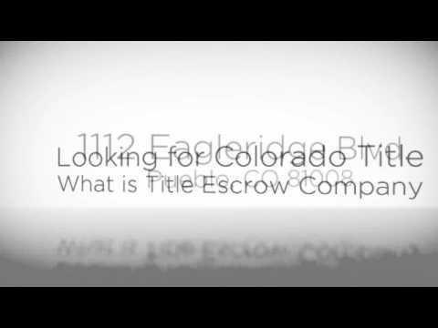 (719) 225-1348 @ American Title Services, colorado title & title escrow company  Pueblo