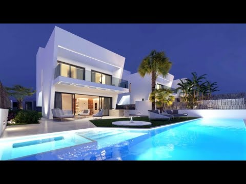 New modern high-tech villa in the elite club village of Sierra Cortina in the suburb of Benidorm