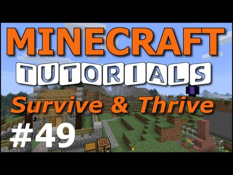 Minecraft Tutorials - E49 Stronghold (Survive and Thrive II)
