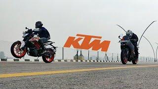 8. KTM Duke 390 (2018) VS KTM RC390 RACE | Highway | Top End