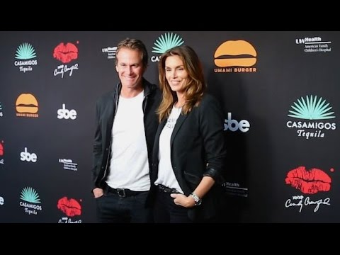 Cindy Crawford And Hubby Rande Gerber Attending Umami Burger Launch