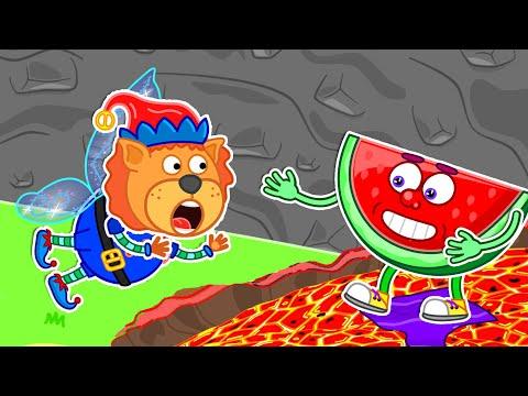 The Floor is Lava #10 🌋 Friends in danger | Lion Family | Cartoon for Kids