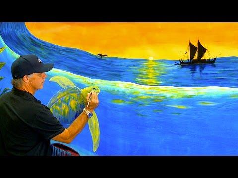 Thế giới đại dương trên tranh vẽ