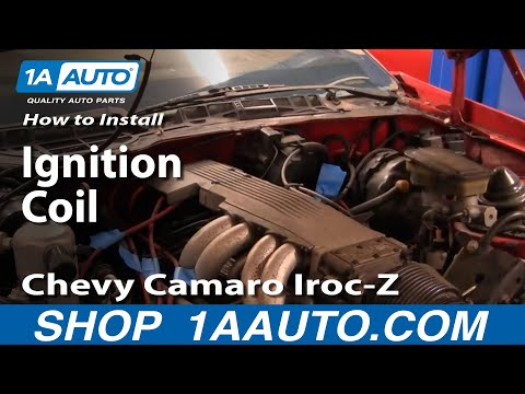 How To Install Replace Ignition Coil 82-92 Chevy Camaro Iroc-Z Pontiac Trans Am Part 1 1AAuto.com