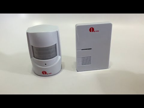 1byone Driveway Alert Doorbell Easy Chime Wireless PIR Motion Sensor Doorbell - Unboxing