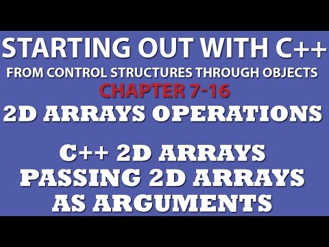 C++ Programming Challenge 7-16: C++ 2 Dimensional Arrays Operations