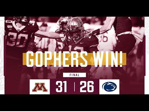Highlights: Gopher Football Defeats Penn State 31-26