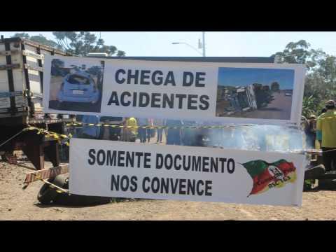 Protesto em Barra do Guarita cobra finalização da RSC 163