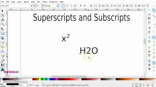 Create Superscripts and Subscripts in Inkscape ...don't do it the manual way if you don't have to.  I show you the Inkscape way that has been hiding right under your nose.  This is for both beginners and advanced users who have never noticed this option was available (like me ...duh).