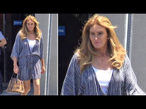 Caitlyn Jenner Flaunts Legs At The Studio, Asked If She's Still Supporting Trump After RNC