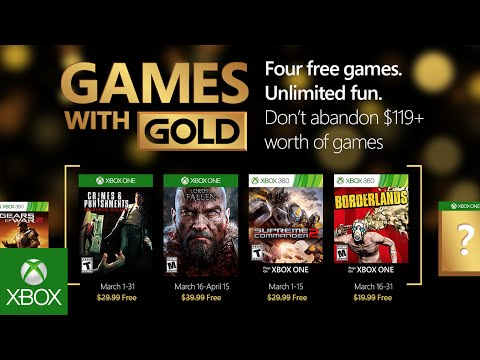 Games with Gold : les jeux de mars 2016