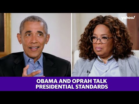 President Obama talks to Oprah about President Trump and presidential standards