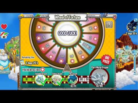 Wheel Of Fortune (Pure Ice + Sky Dragon) [Dragon City]