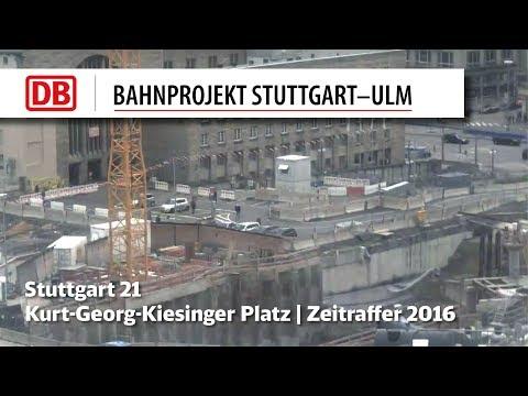 Stuttgart 21: Kurt-Georg-Kiesinger Platz, Technikgebäude (Zeitrafferfilme 2010-2016)
