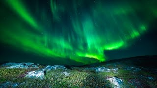 Harstad Norway  City pictures : Northern lights above Harstad, Norway