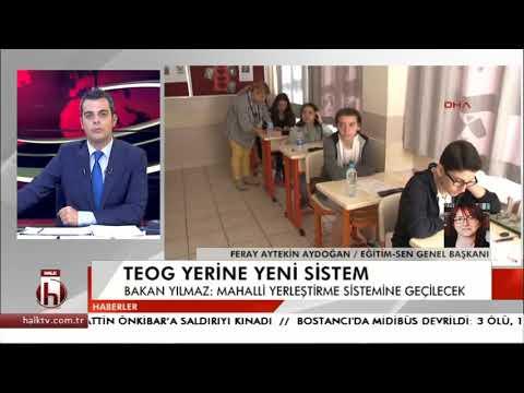 Eğitim Sen Genel Başkanı Feray Aytekin Aydoğan, TEOG yerine gelen yeni sistemi Halk TV'ye değerlendirdi.