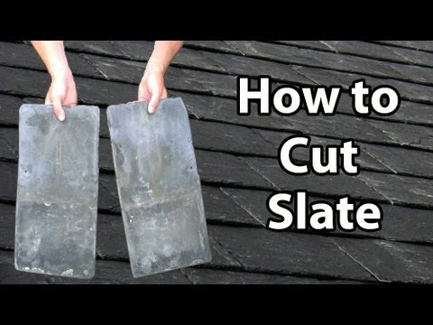 slate - This video shows some common and not so common methods of cutting slate. Not only does it show you the easiest way to cut slate, but shows you some of the te...
