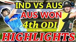 Match Highlights India vs Australia 4th ODI ,Online Streaming Cricket Score, Aus Won by 21 Run
