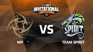 NiP против Team Spirit, Третья карта, Группа А, GG.Bet Dota 2 Invitational