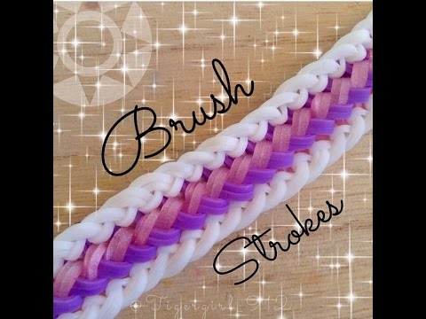 NEW Brush Strokes Rainbow Loom Bracelet