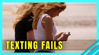 When Texting While Walking Goes Wrong | Funny Accidents and Fails