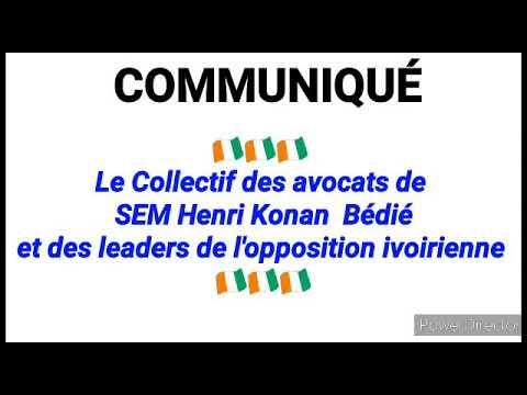 Urgent ! Communiqué des avocats du président Bédié et des personnalités politiques ivoiriennes