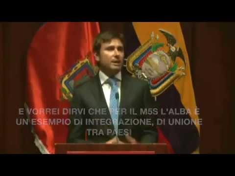discorso di di battista in lingua spagnola in equador