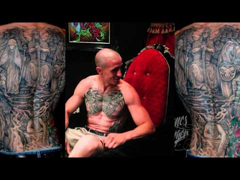 back tattoo - An interview with Super Client Nick Anderson, and his thoughts about his chosen artist James Danger and a demonstration time lapse of his first place award w...