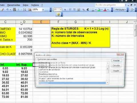 Crear histogramas en Excel