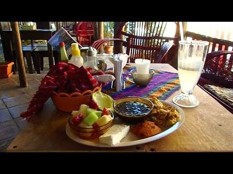 Spectacular Guatemalan breakfast at Lake Atitlan, Guatemala