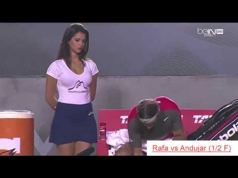 BEAUTIFUL WOMEN WITH RAFAEL NADAL IN RIO OPEN 2014 (видео)
