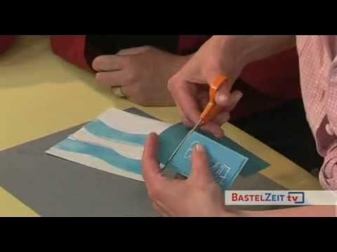 Bastelzeit TV 7 - Teil 1 - Maritime Einladung - Selbst gemacht