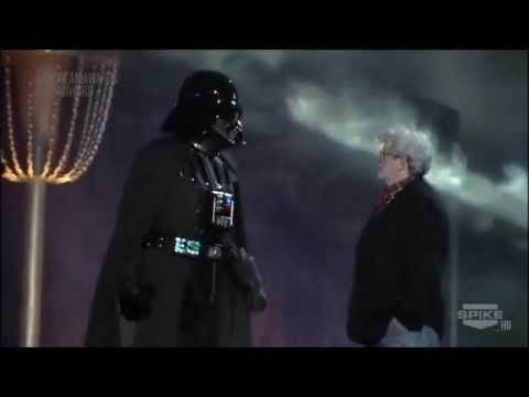 Scream Awards - Darth Vader and George Lucas took the stage at the Scream Awards ceremony as the Dark Lord of the Sith received the 