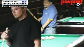 Part 4 / Efren Reyes Vs Bobby Emmons / One-Pocket Match!