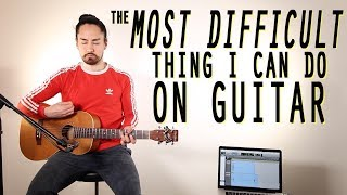 Video The Most Difficult Thing I Can Do On Guitar MP3, 3GP, MP4, WEBM, AVI, FLV Agustus 2018