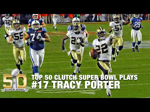 Video: #17: Tracy Porter's Game Sealing INT in Super Bowl XLIV | Top 50 Clutch SB Plays