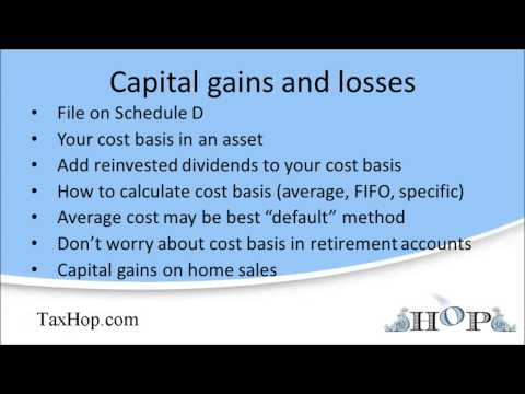 Capital gains and losses (Schedule D)
