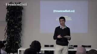Foto z akcie Frontendisti prednáša Honza Sládek.