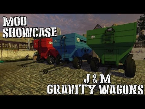 J&M 680SD Gravity Grain Wagons