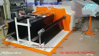 Heavy Duty Winding Rewinding Machine for Batch Printing