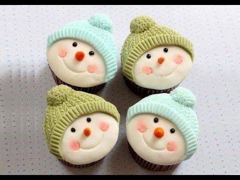 cupcake pupazzo di neve - ricetta