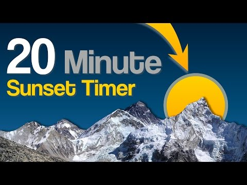 Video 20 min countdown timer with mountain & sunset background and bell finish download in MP3, 3GP, MP4, WEBM, AVI, FLV January 2017