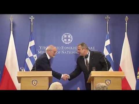 Minister Macierewicz z wizytą w Atenach