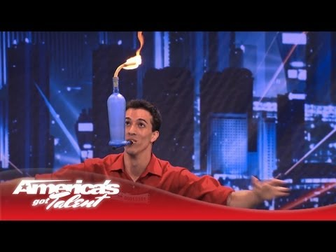 america - Florida native David Ferman attempts a juggling act that has NEVER been performed on the AGT stage! He balances a Molotov cocktail on a balloon--that is on a...