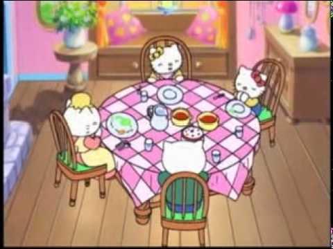 Mimi et mimi mangent en mimi apprendre kitty la bonne fa on de manger hello kitty histoire - Hello kitty et mimi ...