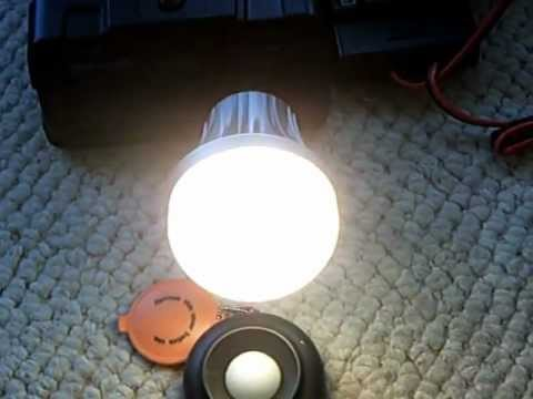 Simple home solar energy system— with 120v AC Light Bulb comparrision